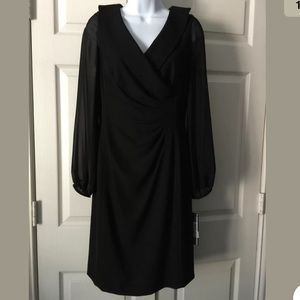 NWT Tahari Arthur S Levine Black Coctail Dress